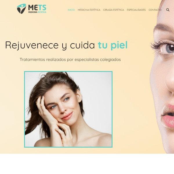 Clínicas Mets diseño web en Huelva y Málaga páginas web